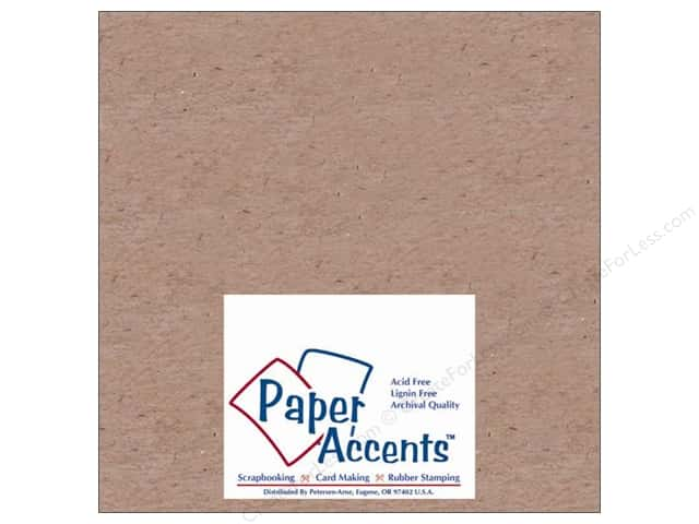 Paper Accents Chipboard 4 x 4 in. 52 pt. Extra Heavy Natural (25 sheets)