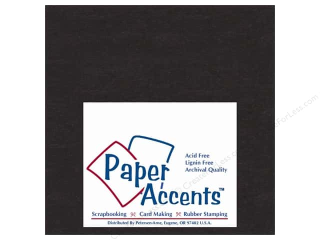 "Paper Accents Chipboard Extra Heavy 6""x 6"" Black (25 sheets)"