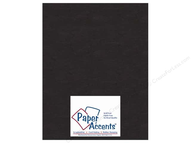 "Paper Accents Chipboard Extra Heavy 8.5""x 11"" Black (25 sheets)"