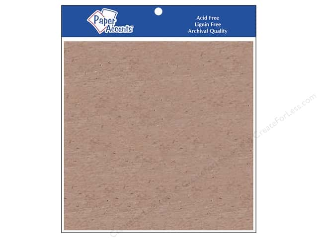 "Paper Accents Chipboard Extra Heavy 8""x 8"" Natural 2pc"