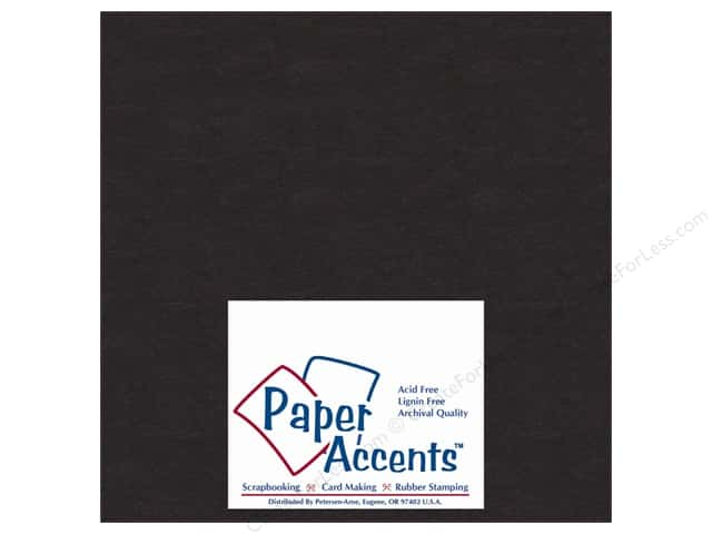 "Paper Accents Chipboard Extra Heavy 8""x 8"" Black (25 sheets)"