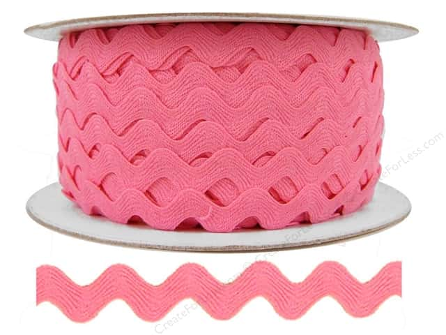 Ric Rac by Cheep Trims  1/2 in. Dark Pink (24 yards)