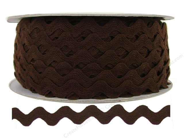 Ric Rac by Cheep Trims  1/2 in. Brown (24 yards)