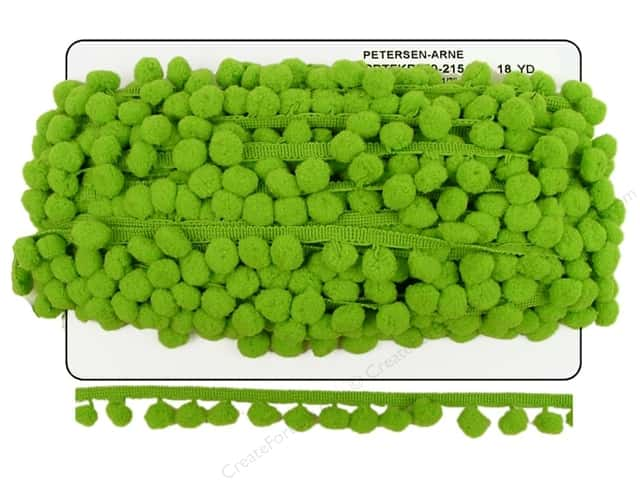 Pom Fringe by Cheep Trims 1 in. Apple (18 yards)