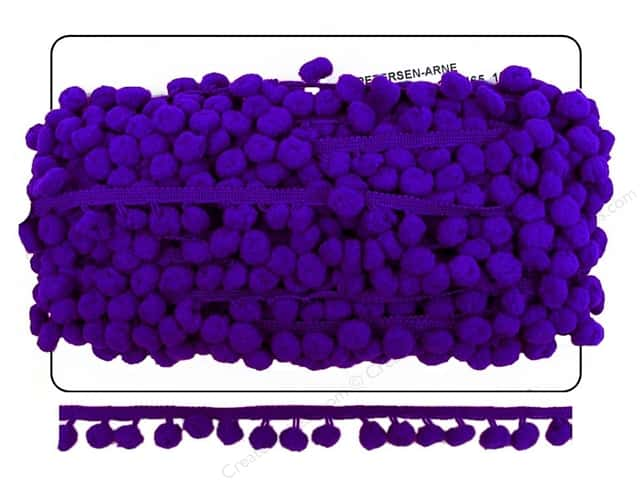 Pom Fringe by Cheep Trims 1 in. Purple (18 yards)