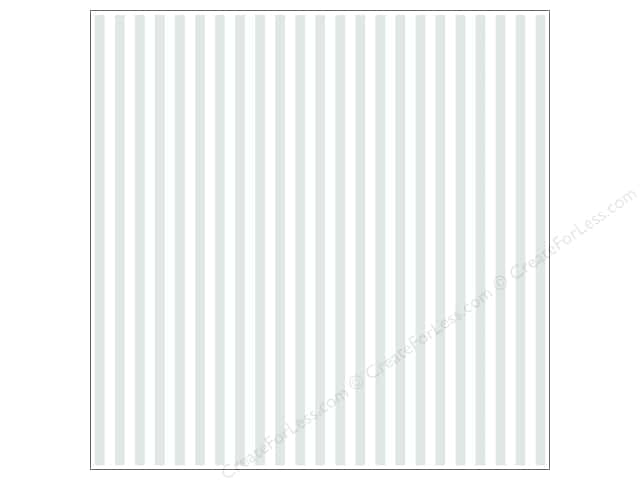 Bazzill 12 x 12 in. Cardstock Glazed #303467 Stripe Bazzill White 15 pc.