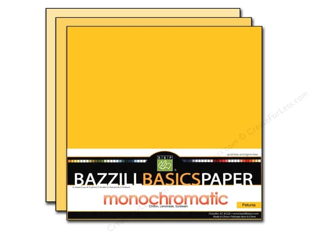 "Bazzill Multi Pack 12""x 12"" Trio 15pc Sunbeam"