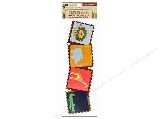 DieCuts Sticker Embellishment Safari Kids Boy Squares