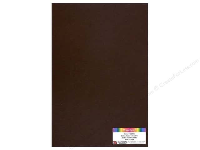 "National Nonwovens WoolFelt 12""x 18"" 35% Chocolate (12 sheets)"