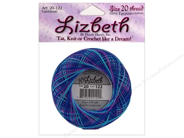 Lizbeth Thread Size 20  #122 Caribbean