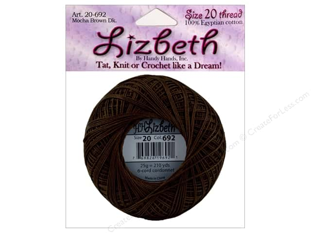 Lizbeth Thread Size 20  #692 Mocha Brown Dark