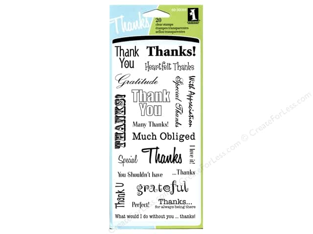 Inkadinkado InkadinkaClings Clear Stamp Thank You Words