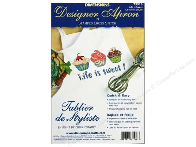 Dimensions Apron Stamped Cross Stitch Life Is Sweet