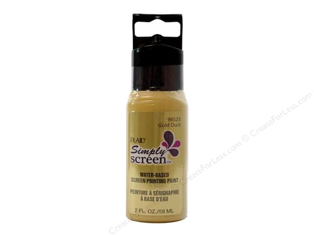 Plaid Simply Screen Paint 2oz Gold Dust