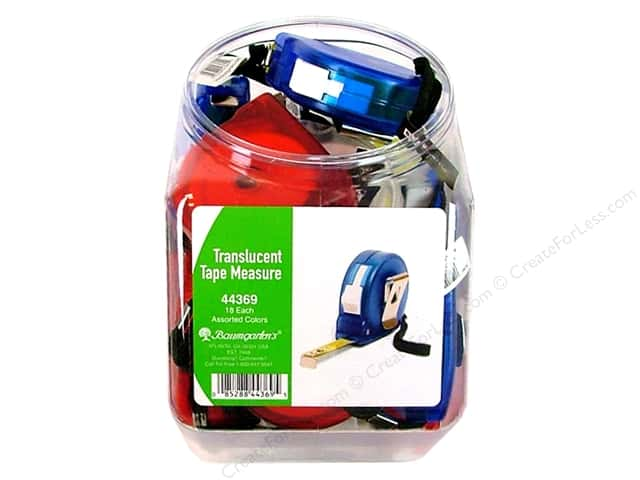 Baumgartens Bins Tape Measure Metal Bulk Assorted (18 pieces)