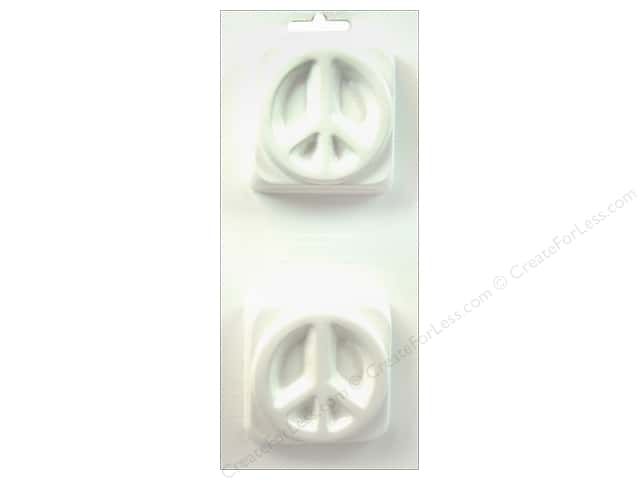 Yaley Soapsations Plastic Mold Peace Sign
