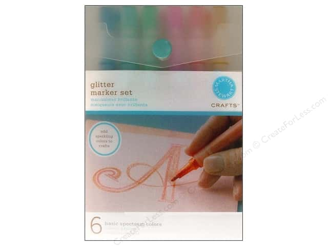 Martha Stewart Marker Set Glitter Basic 6pc