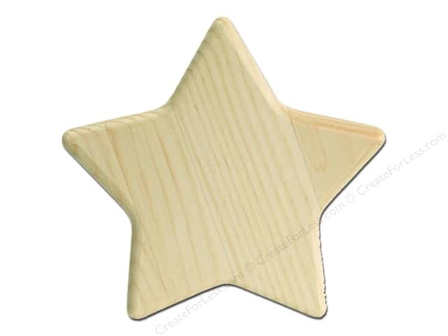 Walnut Hollow Pine Plaque Star Shape 7 1/4 x 6 1/8 in.