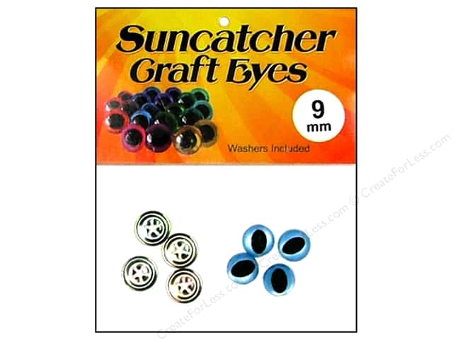 Suncatcher Craft Eyes Cat 9mm Shimmer Sky Blue 2pr