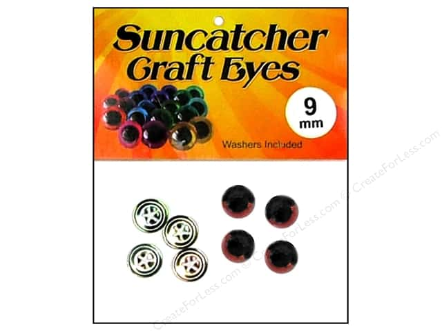 Suncatcher Craft Eyes Sleepy 9mm Brown 2pr