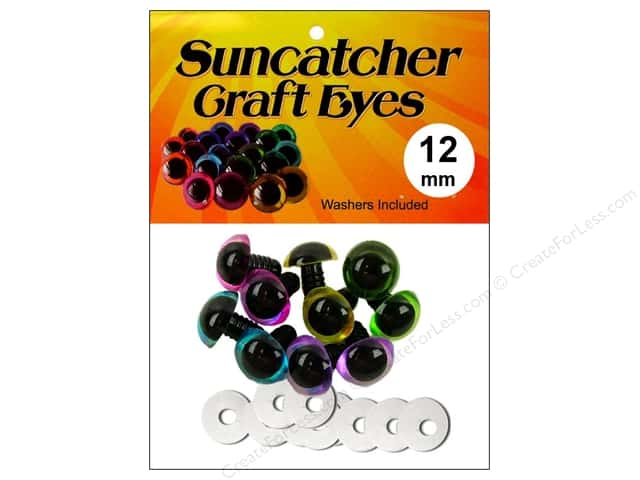Suncatcher Craft Eyes Translucent 12mm Pastel 5pr