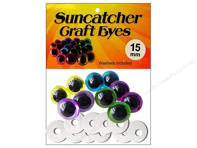 Suncatcher Craft Eyes Translucent 15mm Pastel 5pr