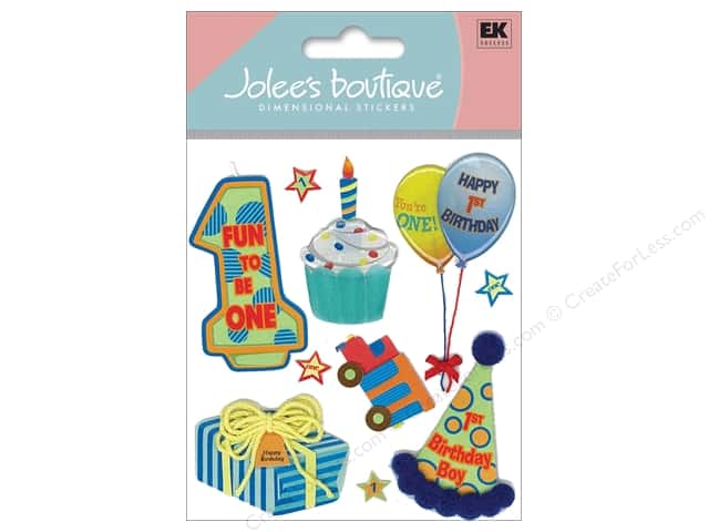 Jolee's Boutique Stickers 1st Birthday Boy