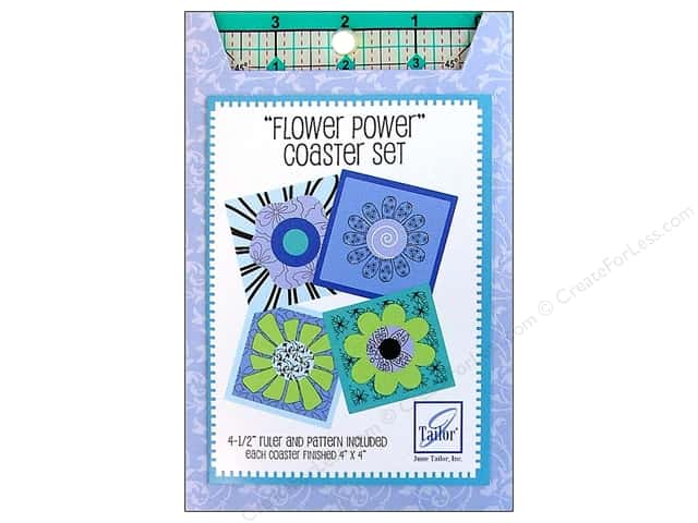 "June Tailor Ruler Square 4.5"" & Coaster Pattern"