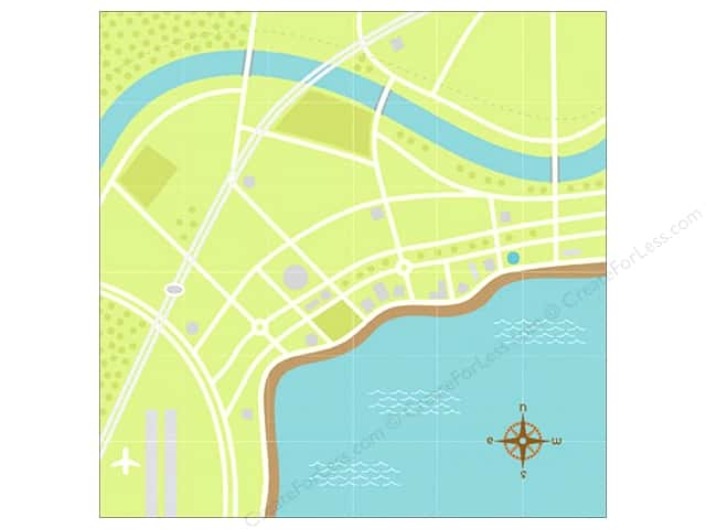 Doodlebug Paper 12 x 12 in. Getaways View From Above (25 sheets)