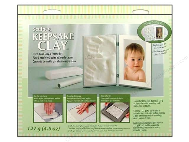 Sculpey Keepsake Frame Sets Clay Kit White
