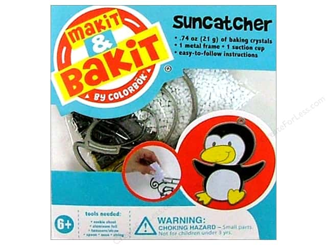 Colorbok Makit & Bakit Suncatcher Kit Penguin