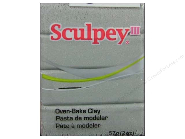 Sculpey III Clay 2 oz. Silver