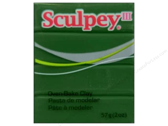 Sculpey III Clay 2oz Leaf Green
