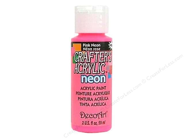 DecoArt Crafter's Acrylic Paint 2 oz. #128 Neon Pink