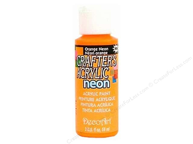 DecoArt Crafter's Acrylic Paint 2 oz. #130 Neon Orange