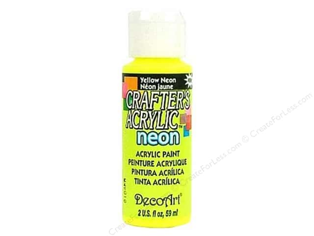 DecoArt Crafter's Acrylic Paint 2 oz. #131 Neon Yellow