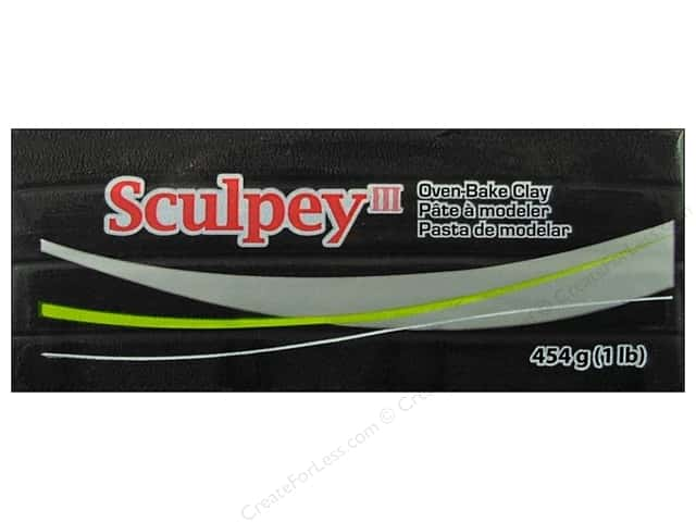 Sculpey III Clay 1lb Black