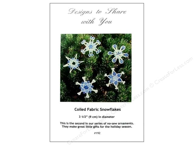 Designs To Share Ursula Riegel Coiled Fabric Snowflakes Pattern