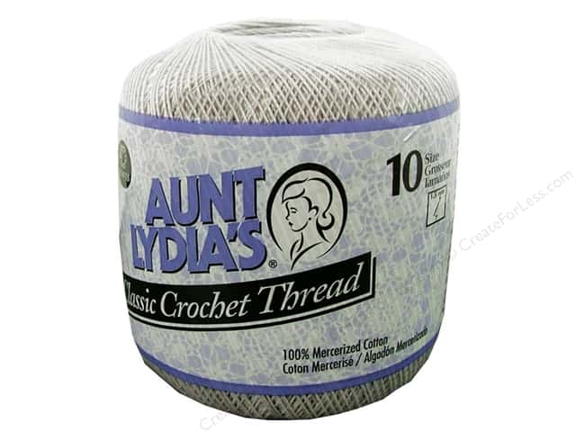Aunt Lydia's Classic Cotton Crochet Thread Size 10 Silver