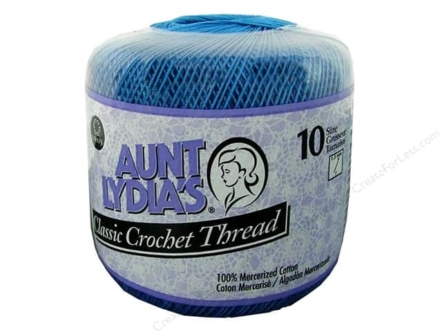 Aunt Lydia's Classic Cotton Crochet Thread Size 10 Blue Hawaii
