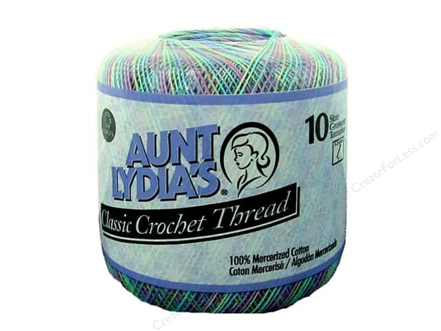 Aunt Lydia's Classic Cotton Crochet Thread Size 10 300 yd. Monet