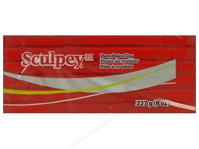 Sculpey III Clay 8oz Red Hot Red