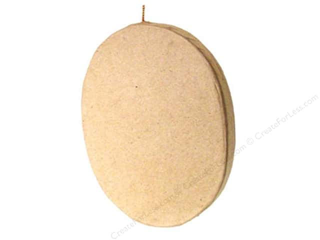 Paper Mache Flat Oval Ornament by Craft Pedlars (3 pieces)