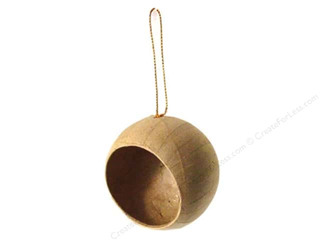 Paper Mache Ball Ornament 1/2 Open by Craft Pedlars (3 pieces)