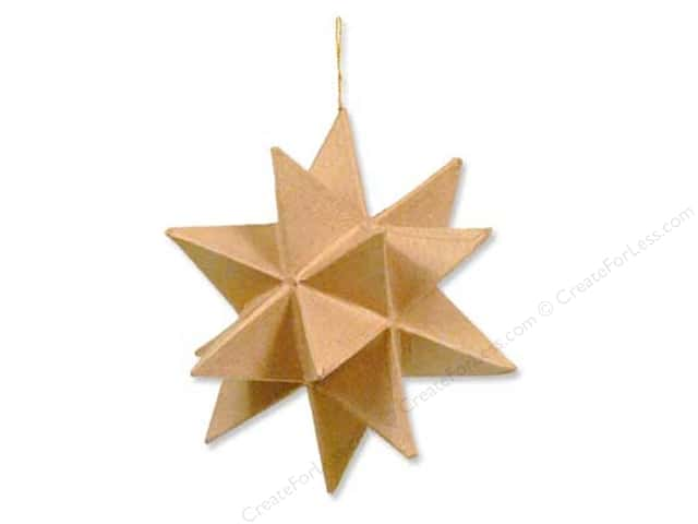 Paper Mache Moravian Star by Craft Pedlars 6 1/2 in.