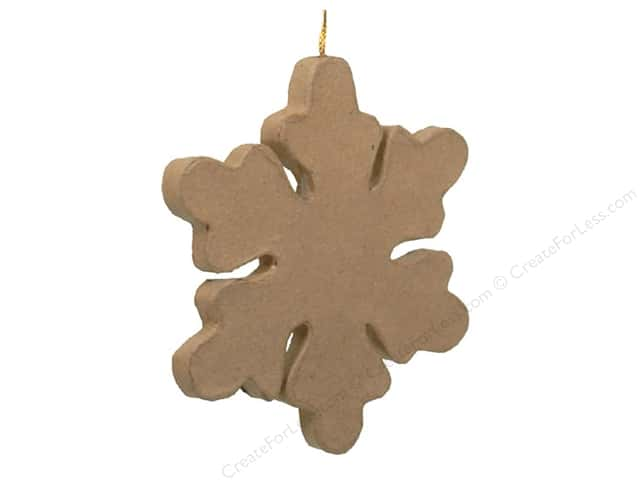 Paper Mache Snowflake Ornament by Craft Pedlars 5 1/2 in.