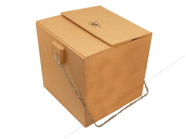 Paper Mache Medium Box Flip Top with Closure by Craft Pedlars