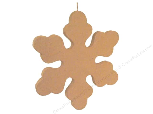 Paper Mache Snowflake Ornament by Craft Pedlars 12 in.