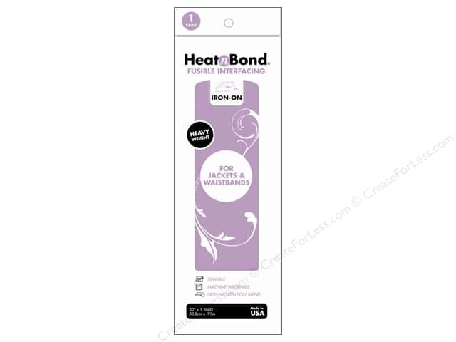 "Heat n Bond Fusible Interfacing Heavy Weight 20""x 1yd"