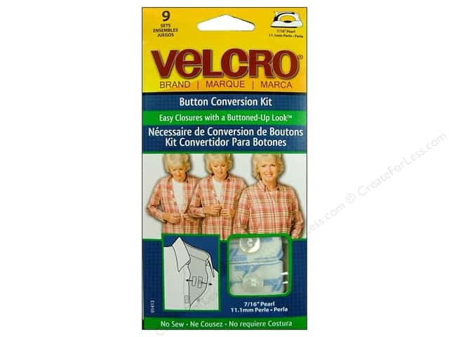 Velcro Button Conversion Kit 7/16 in. Pearl 9pc.